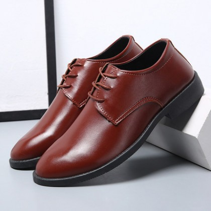 Men Soft Sole All-match Business Formal Wear Leather Shoes