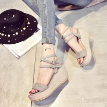 [PRE-ORDER] Women Rome High Heel Sandals Wedges