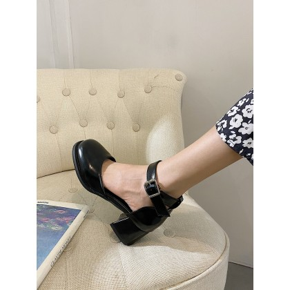 Women High-heeled All-match Summer Leather Shoes