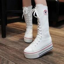 [PRE-ORDER] Women Canvas Sport Long Boots