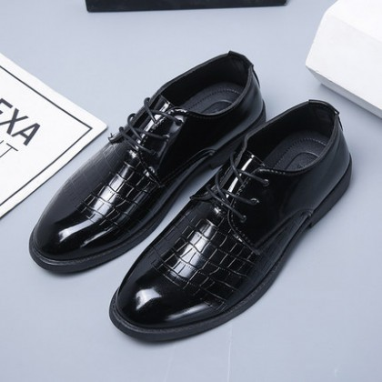 Men Leather Lace-up Soft-sole Formal 0Shoes