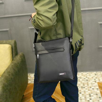 Men Business Casual PU Crossbody Sling Shoulder Bag