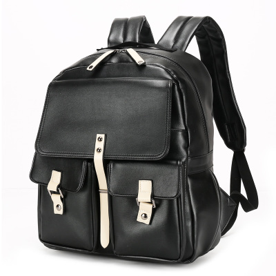 Men Japanese PU College Student PC Laptop Backpack