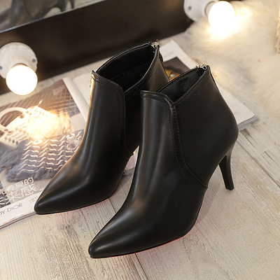 Women Euro Sexy High Heel Zipped Cool Boots