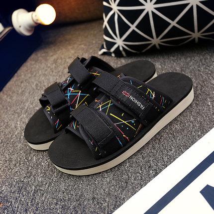 Men Casual Velcro Sandals Flip-flops