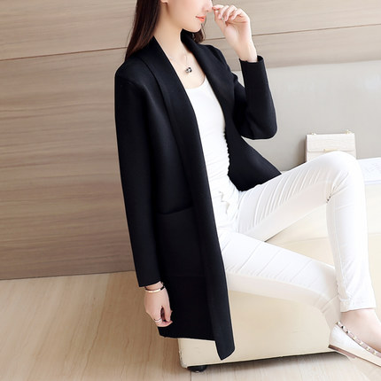 Women Knitted Long Sleeve Jacket Coat