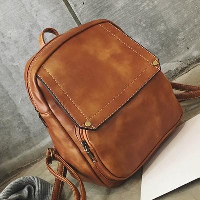 Women Retro England PU Leather Backpack