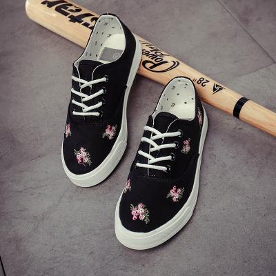 Women Flora Flower Canvas Casual Sport Shoes
