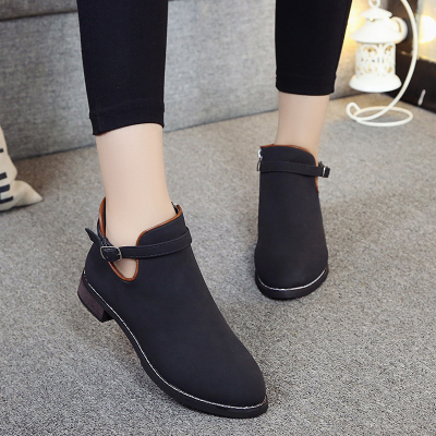 Women EU Retro Style Classic PU Martin Boots