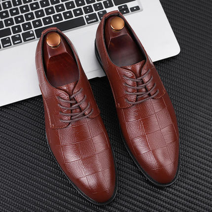 Men Fashion Soft sole Casual Breathable British Style Leather Shoes