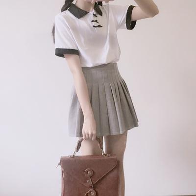 Women Cute Ribbon Polo Short Sleeve T