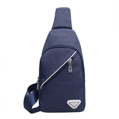 Men Zipped Canvas Chest Pack Bag