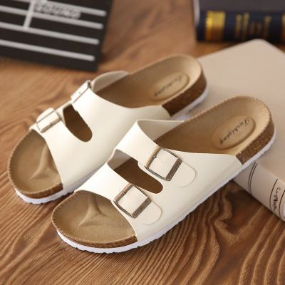 Men Women Couple Buckle Flip-Flop Sandals
