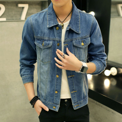 [READY STOCK / PRE-ORDER] Men Plus Size XXXL Long Sleeve Jeans Denim Biker Jacket
