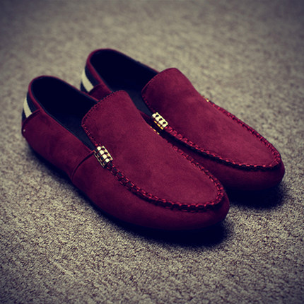 Men Plain Color Casual Loafer Slip-on Shoes