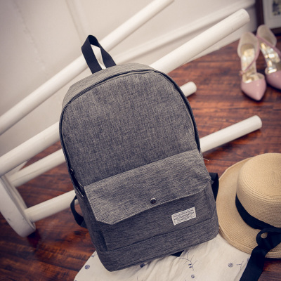 Men Canvas Basic Simple Design Backpack