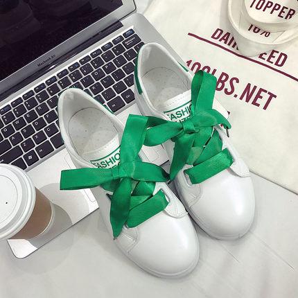 Women Silk Ribbon Shoe Lace Sport Shoes