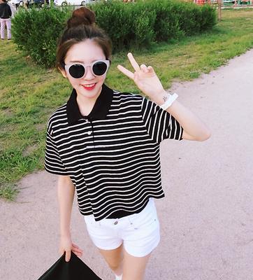 Stripe Short Sleeve T Shirt