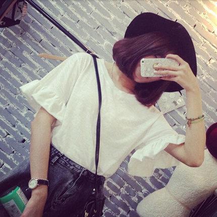 White Pure Slim Tops T Shirts
