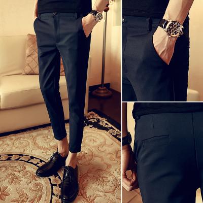 Men Plus Size XXXL Formal Suits Zipped Pocket Long Pants
