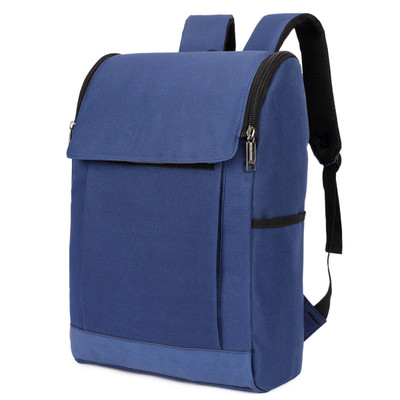 Men Canvas Zipped PC Laptop IPAD College Student Backpack
