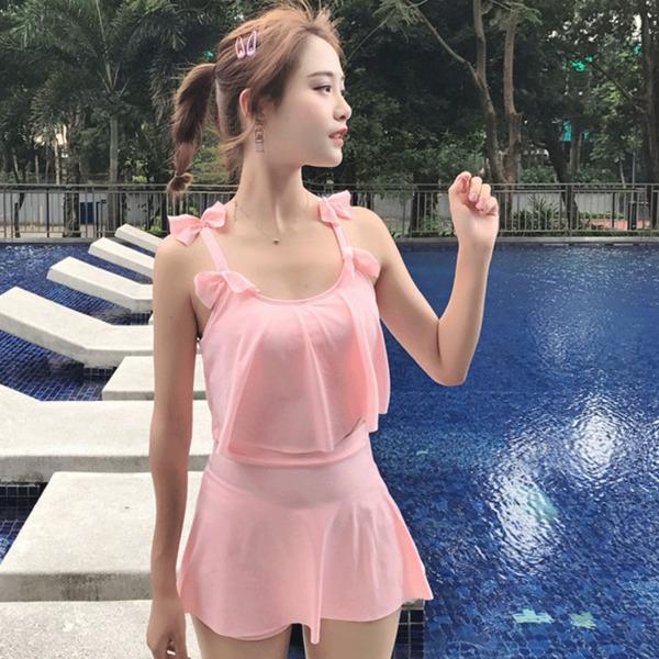 Women Modest Women Ribbon Style Swimsuit