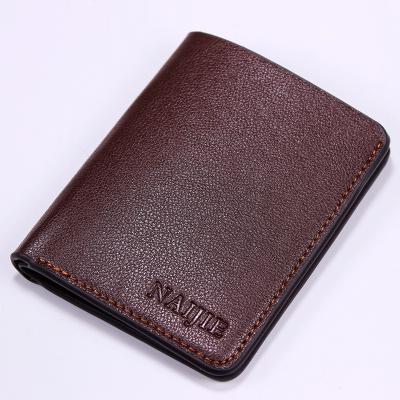 Men Ultra-thin Card Student Soft PU Leather Mini Short Wallet
