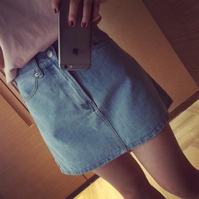 Women Clothing Denim Jeans High Waist Skirts