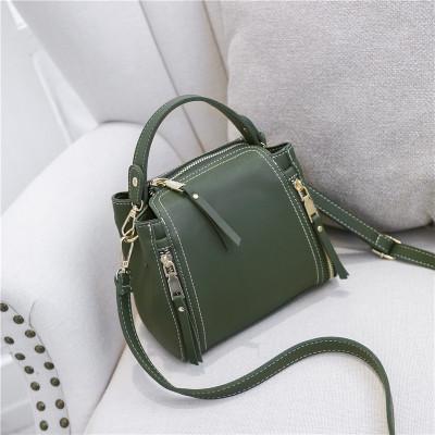 Women Korean Bucket Shoulder Sling Zipper Messenger Bag