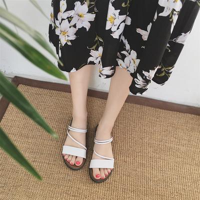Women Korean Flat Wild Open Toe Sandals
