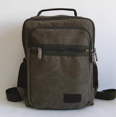 Men Small Shoulder Bag, Canvas Bag Backpack