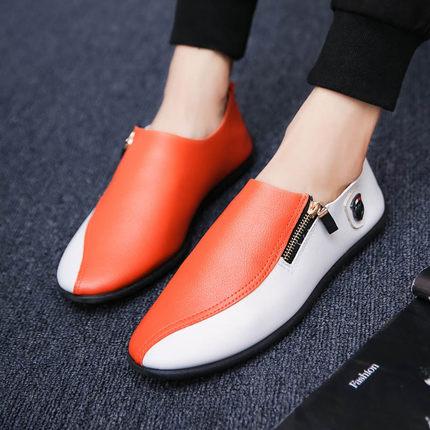 Men  Casual Shoes Korean Trend Lazy Leather Shoes