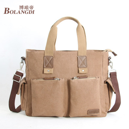 Men Canvas Bag Handbag Briefcase