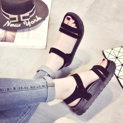 Women South Korea's New Roman Simple Wild Sandals, Flat Shoes