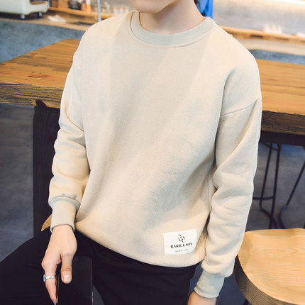 Men Autumn and Winter Men Plus Cashmere Thickened Hooded Sweater