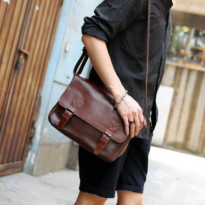 Men New Retro Shoulder Bag, Travel Bag