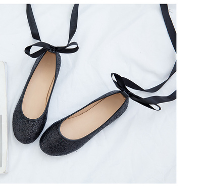 Women  New Comfortable Shallow Mouth Bow Ballet Shoes