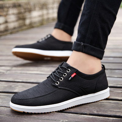 Men Autumn Breathable Canvas Non-slip Shoes