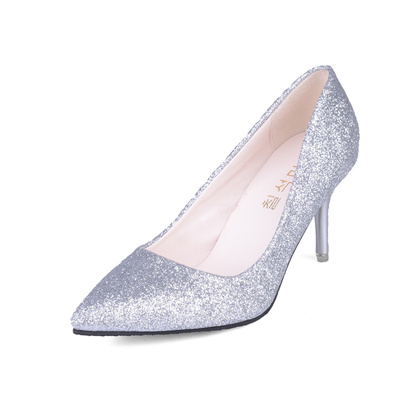 Women 7 cm Fine With Elegant  Shallow Mouth High Heel, Professional Work Shoes