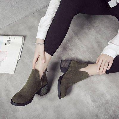Women Korean Version of Martin Boots Female High Heels