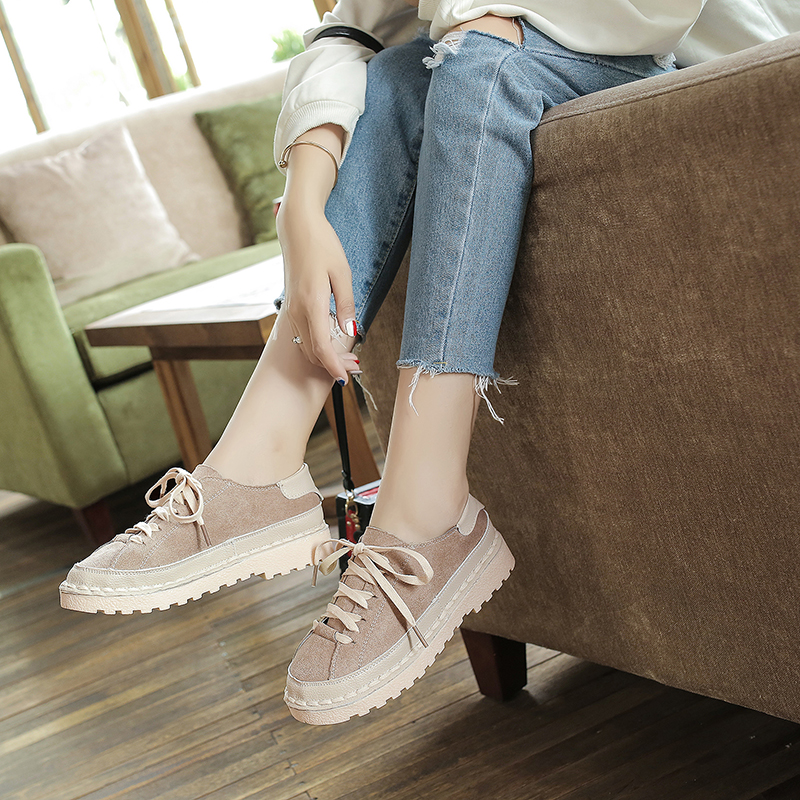 Women  New Round Soft Bottom Sen Flat Shoes