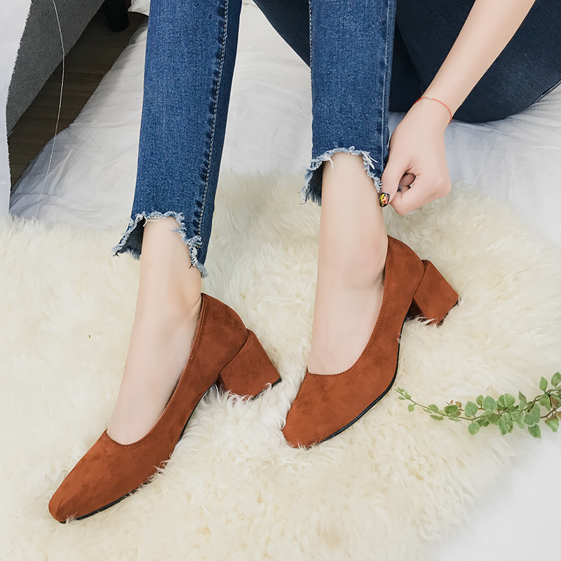 Women Winter Shoes With Velvet Heels, Cats Shoes