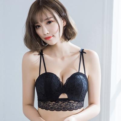 a742584cf591e Women Sexy Lace No Rims Adjustable Side Wide Breast Milk Supplement Bra set