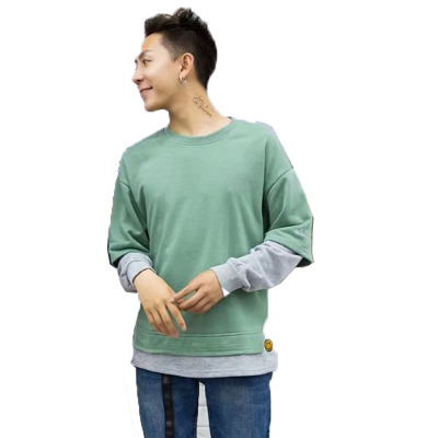 Men Splicing Sleeves Youth Light Coat