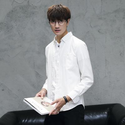 Men Long-Sleeved  Slim Korean Fashion Casual Shirt