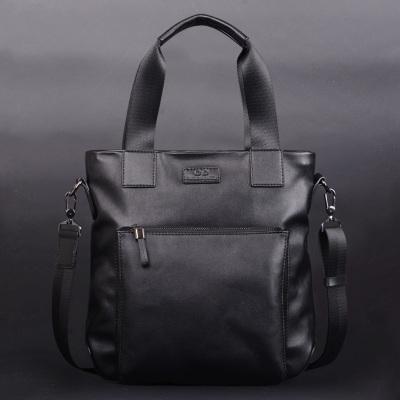 Men Hand Casual Shoulder Travel Soft Leather Briefcase Bag