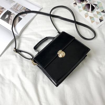Women New Chic Chain Retro Lock Square Small Shoulder Bag
