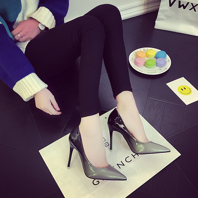 Women's New Gradient Pointed High Heel with Thin Fight Color