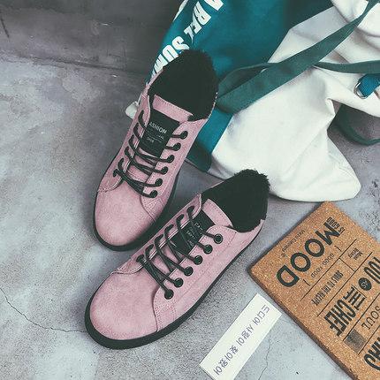 New Plus Velvet  Women Ins Super Harajuku Ulzzang Canvas Shoes