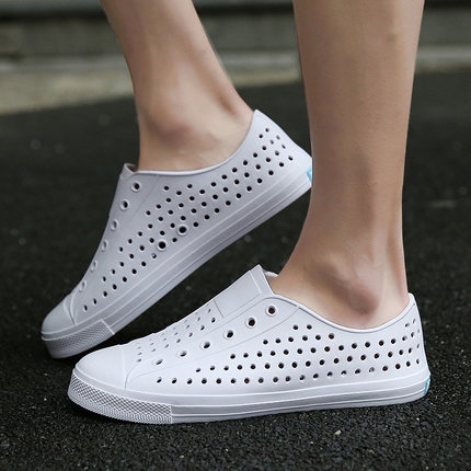 Men Spring Low Classic Flat White Cloth Shoes